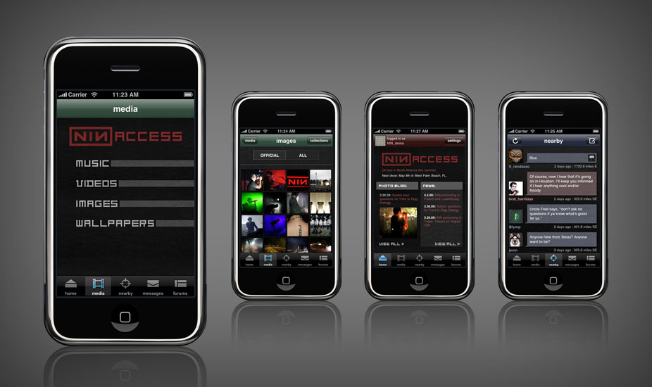 NIN:ACCESS iPhone